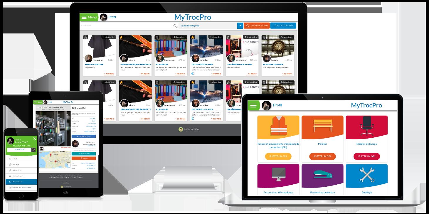 Demo MyTroc.pro réemploi en entreprise